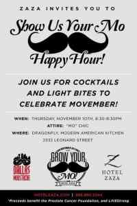 Movember: Show Us Your Mo Happy Hour