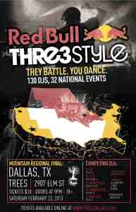 Red Bull Thre3style Regional Finals to Take over Dallas
