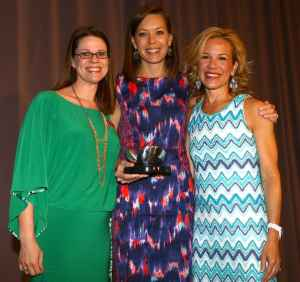Jenny Scott, Leah Haberer (recipient of Spirit of Allie & Taylor award) and Larissa Linton