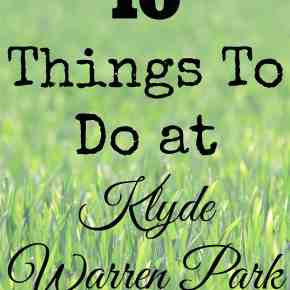10 Things to do at Klyde Warren Park