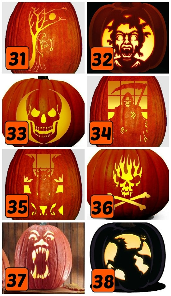 75 FREE Pumpkin Carving Patterns - from The Dating Divas
