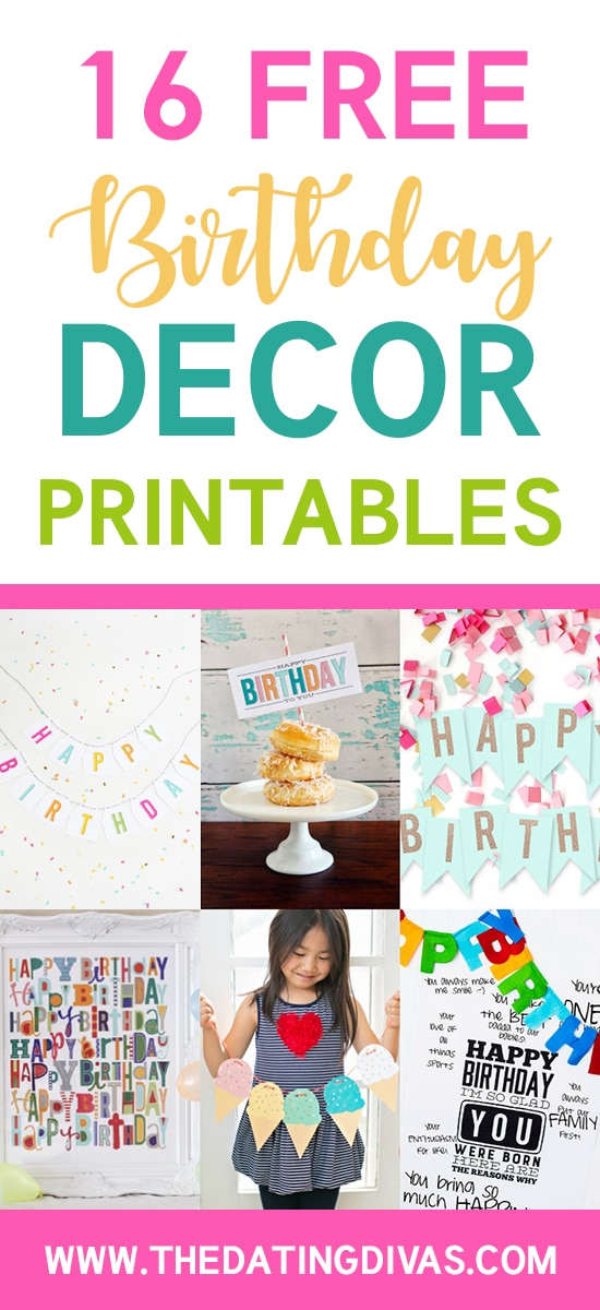 101 Free Birthday Printables - The Dating Divas