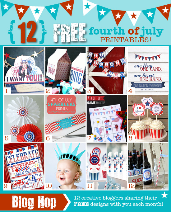 12 FREE Printables for The 4th of July!