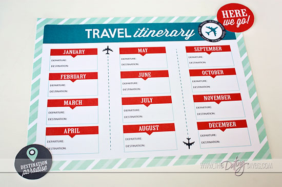 Fun Travel Itinerary Template – Vacation Itinerary Template