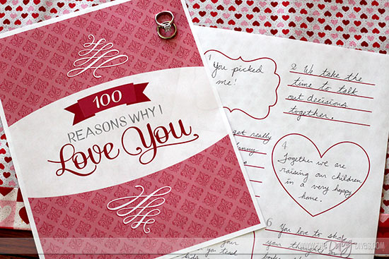 DIY 100 Reasons Why I Love You Book - From The Dating Divas