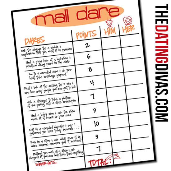 Mall Dare - The Dating Divas - task list