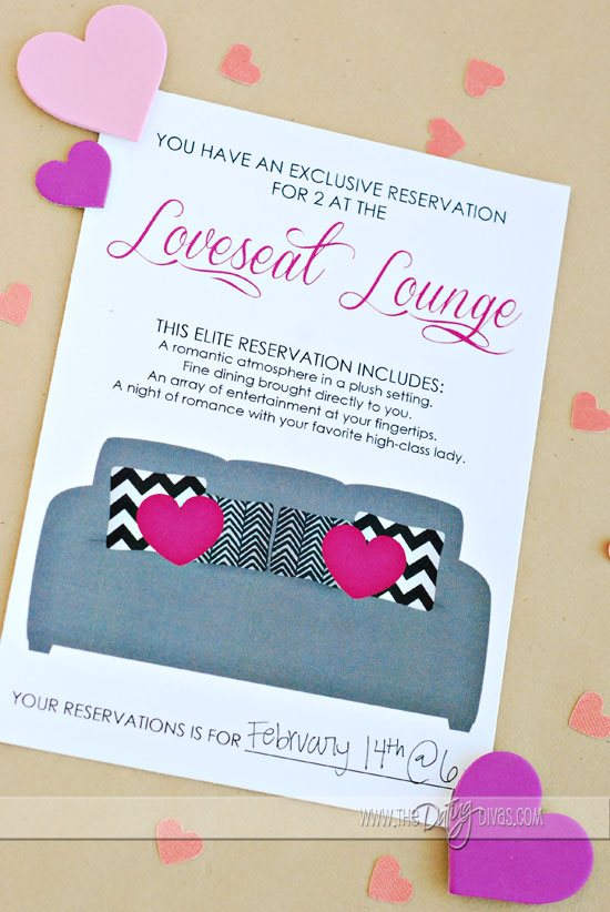 Love Seat Lounge - A Date Night at Home - at home date ideas