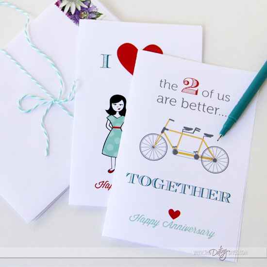 Anniversary Printables Gift Pack - From The Dating Divas - printable anniversary cards for him