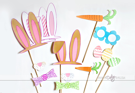 Free Easter-themed Photobooth Printables! - free printable religious easter cards