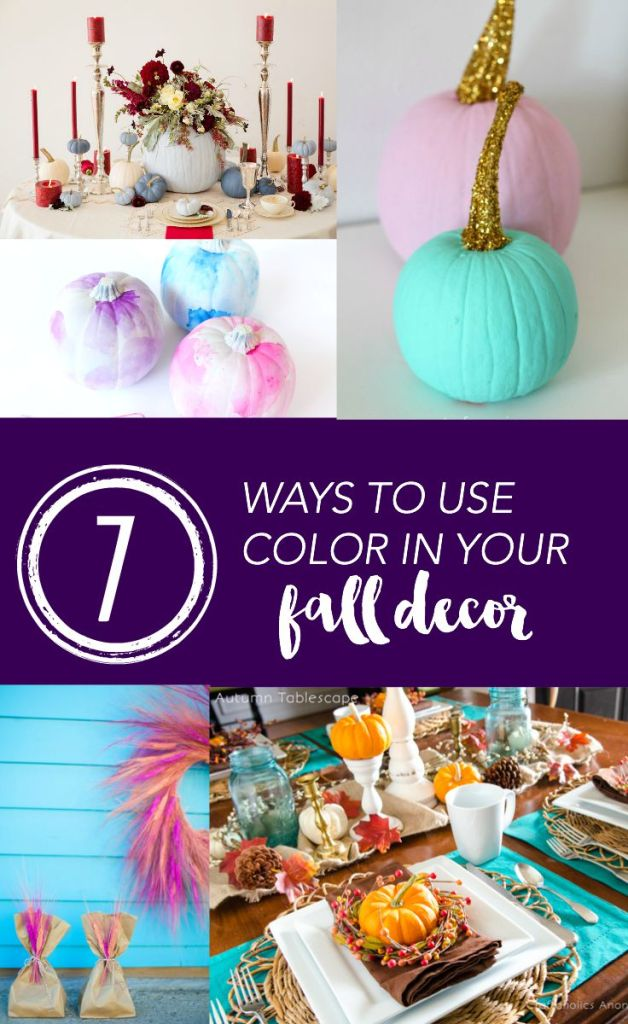 7 ways to use color in fall decor