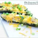 In the Kitchen:  Broccoli Chicken Zucchini Boats