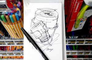 Papermate Flair M test Feature-Industrial design sketching