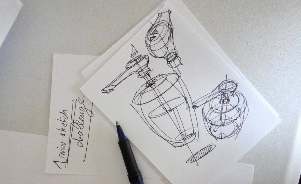 1 minute challenge design sketching the design sketchbook