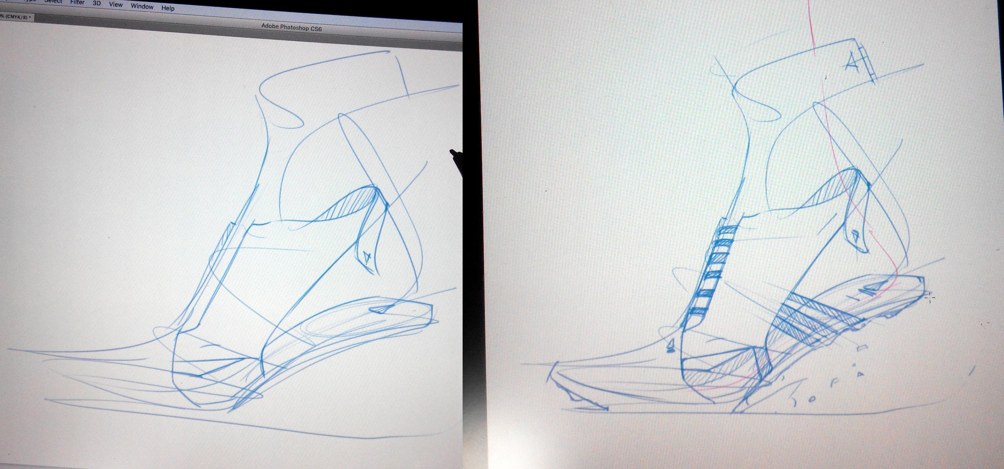 Adidas sketch sneaker 2 steps The Design Sketchbook Photoshop a copy