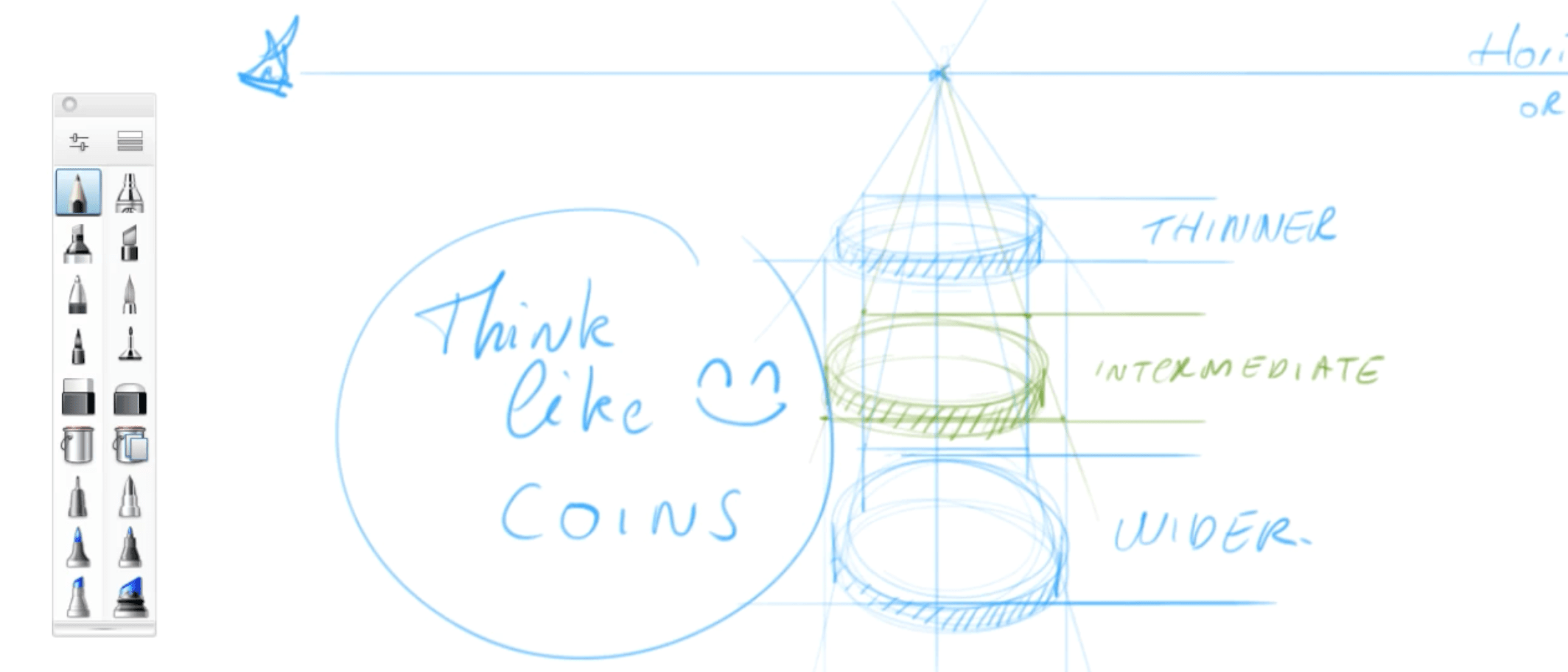 How to draw basic 3d volumes - cone - cube - cylinder - the design sketchbook - i