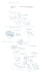 Geometry box division perspective design sketching tutorial