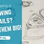 Struggling at drawing details? Draw them big! | Sketch from Amy | TIP 165