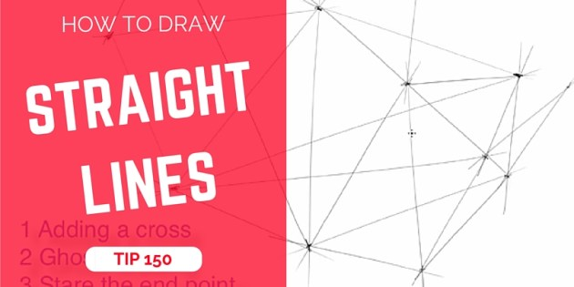 TIP 150 How to draw straight lines wit no ruler - the design sketchbook - product and industrial design sketching