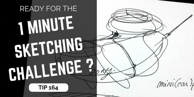 TIP 164 How to draw the 1 minute sketching challenge- The design sketchbook - Product and industrial design sketching tutorials