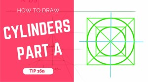 TIP 169 How to draw multiple cylinders in perspective - Part A - The design sketchbook - Product and Industrial design sketching tutorial (1)