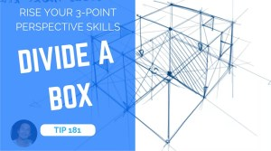 TIP 181 Divide a box using 3 point perspective - the design sketchbook - product design sketching