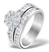 Matching Diamond Engagement and Wedding Ring 1.46ct ...