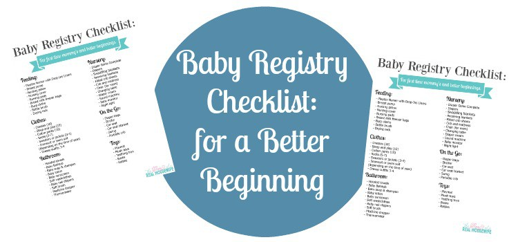 Baby Registry Checklist for a Better Beginning - The Diary of a