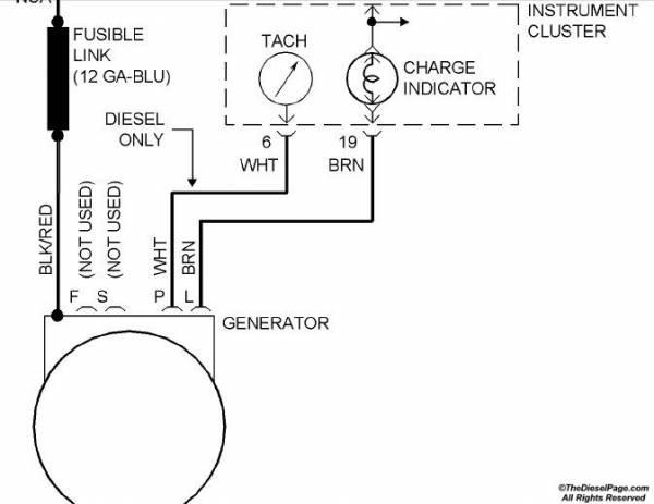 Alternator With Tach Wiring Diagram Wiring Schematic Diagram