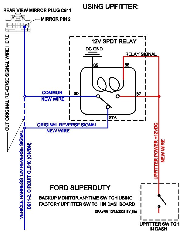 Ford F100 Turn Signal Wiring Diagram Also Backup Camera Wiring