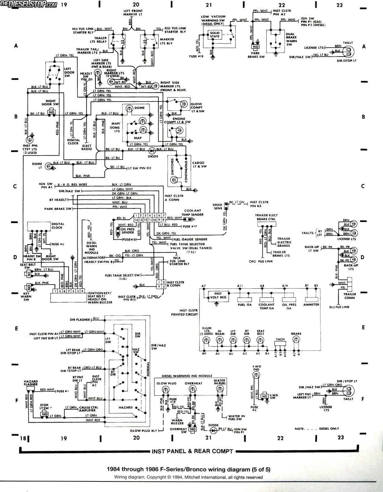 1985 ford tempo fuse box