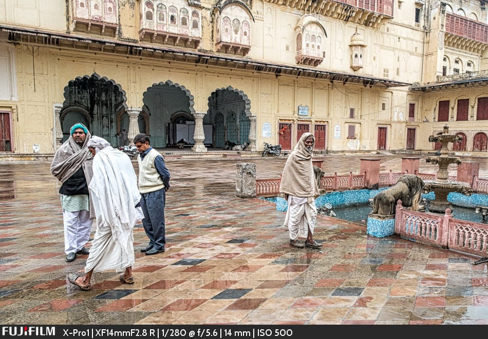 A drab, rainy, wet day at the Alwar Palace.