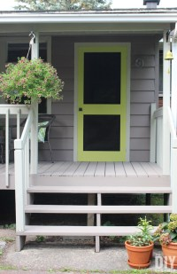 Add a Punch of Color to a Porch - DIY Screen Door