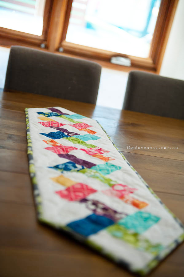 double helix table runner