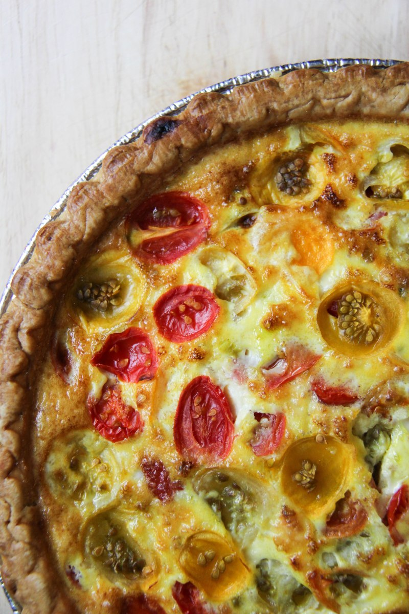 Heirloom Tomato + Pesto Quiche