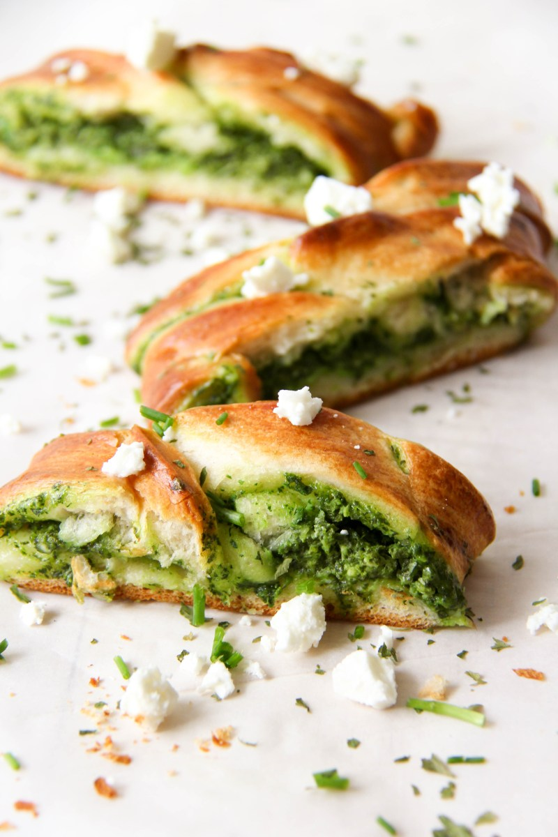 Spinach + Feta Braid