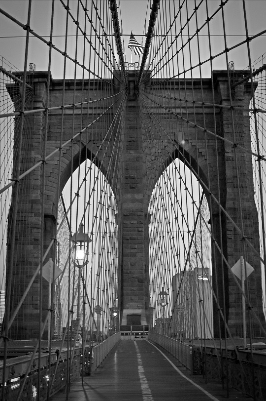 Black And White Geometric Wallpaper Sunrise On The Brooklyn Bridge The Dreamy Bunny
