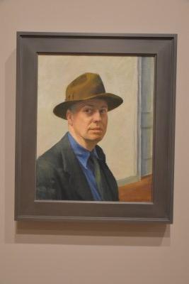 Self-portrait by Edward Hopper (photo by David).