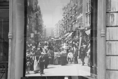 A scene when Orchard Street was a bustling immigrant haven (photo by David).
