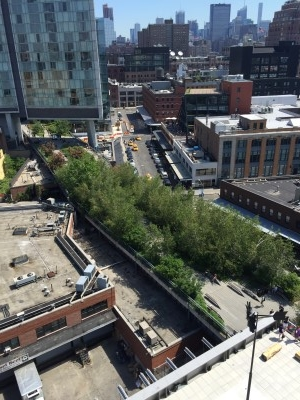 Next stop: The High Line Park, below the Whitney Museum.
