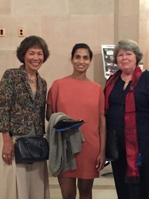 LUNAFEST East Bay committee member Carol and me with Veena Rao.