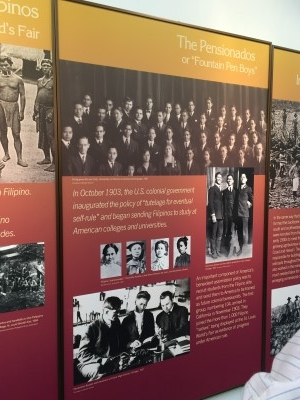 One of the first group of immigrants to come to America were the pensionados. One of the first group of immigrants to come to America were the pensionados.