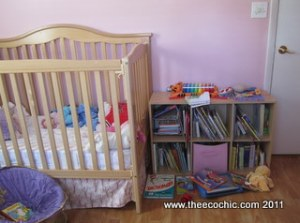 Crib and Bookshelf