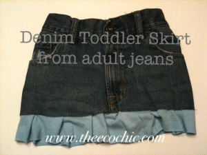 Denim Toddler Skirt