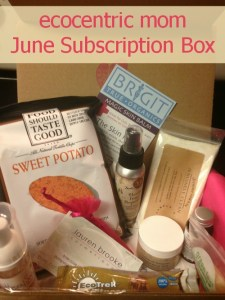 ecocentric mom june subscription box