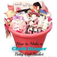 How to Make a Cloth Diaper Baby Gift Basket