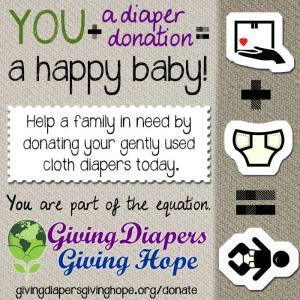 Donate Diapers to Giving Diapers Giving Hope