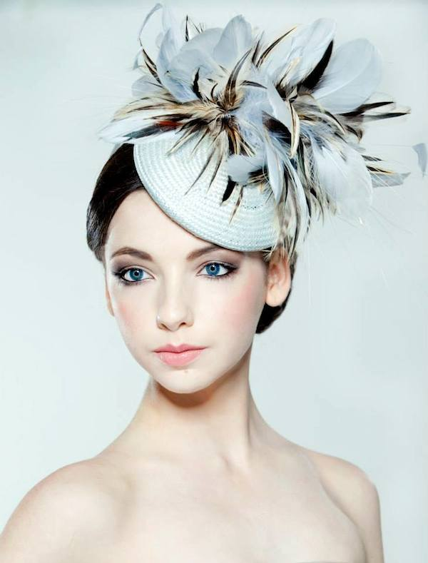 Rose Young Millinery Light Blue Straw Percher
