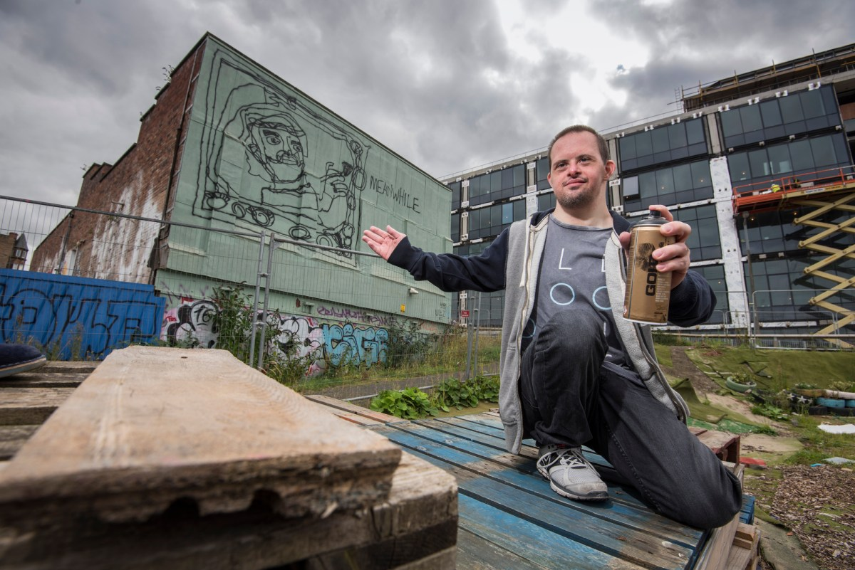 Edinburgh artist unveils mural inspired by community for Dropkick murphys mural