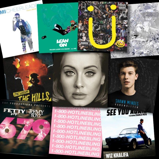 A college of the most popular songs of 2015.