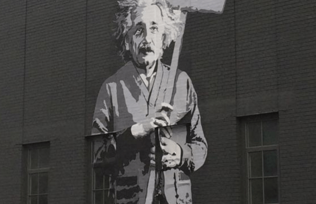 A piece of graffiti located in The High Line.  Photo Credit: Jade Matthews